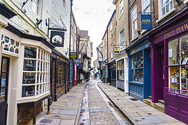 The Shambles, a preserved medieval street in York, North Yorkshire, England, United Kingdom, Europe - 1226-1044