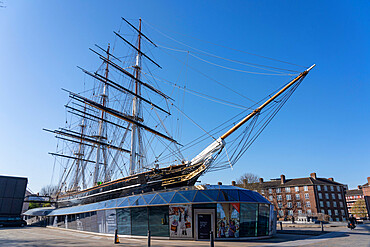Cutty Sark, Royal Museums, UNESCO World Heritage Site, Greenwich, London, England - 1226-1046