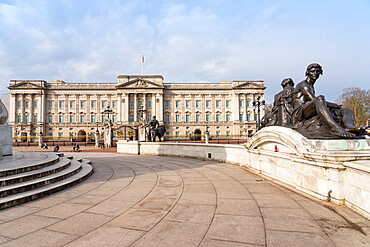 Buckingham Palace viewed from Victoria Memorial, London, England