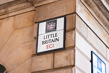 Little Britain street sign in the City of London, London, England