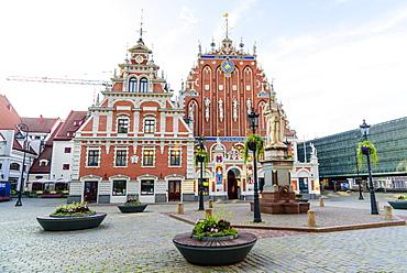 House of the Blackheads, Town Hall Square, UNESCO World Heritage Site, Riga, Latvia, Europe