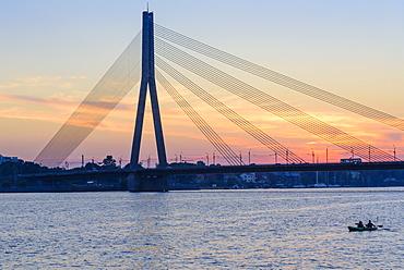 Vansu Bridge, Daugava River, Riga, Latvia, Europe