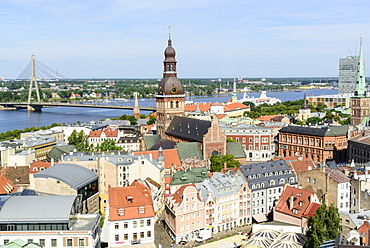 View of Old Town, UNESCO World Heritage Site, Riga, Latvia, Europe