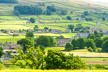 Hawes arket town in upper Wensleydale in mid-summer, The Yorkshire Dales, England.