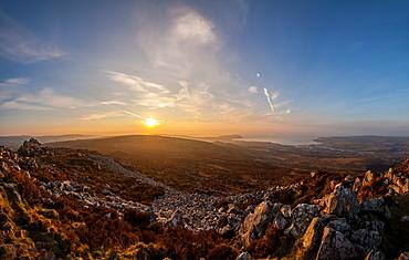 Carn Ingli looking towards Newport, Pembrokeshire, Wales, United Kingdom, Europe