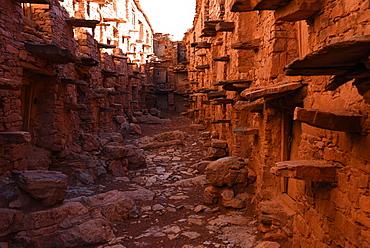 Behind the walls of the Berber granary, Agadir Tashelhit, Anti-Atlas mountains, Morocco, North Africa, Africa
