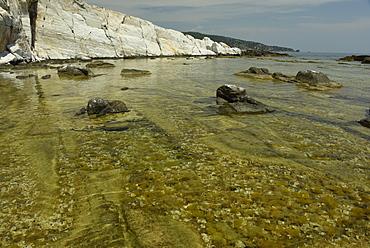 Ancient quarry of Alyki, Thassos, Greek Islands, Greece, Europe