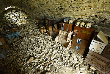Village ossuary, Kastro, Thassos, Greek Islands, Greece, Europe