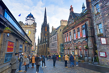 Castlehill, The Royal Mile, Old Town, Edinburgh, Lothian, Scotland, United Kingdom, Europe