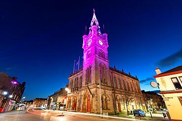 Renfrew Town Hall and Museum at dusk, Renfrew Renfrewshire, Scotland, United Kingdom, Europe