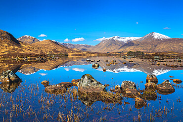Lochan na h-Achlaise, The Black Mount, Lower Rannoch Moor, Argyll and Bute, Scotland, United Kingdom, Europe