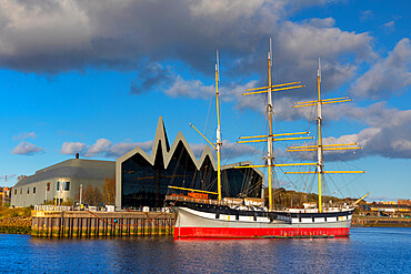 The Tall Ship Glenlee, Riverside Museum, River Clyde, Glasgow, Scotland, United Kingdom, Europe