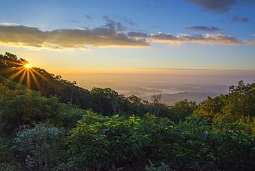 Sunrise over the Blue Ridge Mountains, North Carolina, United States of America, North America