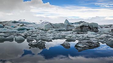 Icebergs in Jokulsarlon Glacier Lagoon, Iceland, Polar Regions