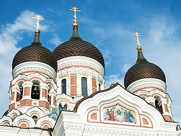 Alexander Nevsky Cathedral (Russian Orthodox), Toompea (Upper Town), UNESCO World Heritage Site, Tallinn, Estonia, Baltics, Europe
