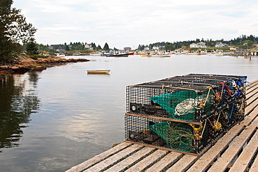 Lobster traps, Maine, New England, United States of America, North America