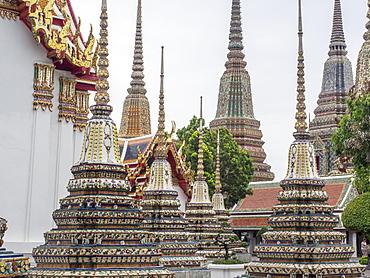 Chedis, Wat Pho, Bangkok, Thailand, Southeast Asia, Asia