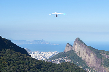 Hang gliding in Rio de Janeiro, Brazil, South America