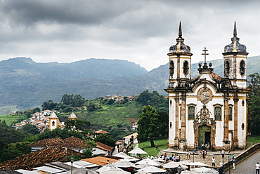 Church of Saint Francis of Assisi built by Aleijadinho in 1766 a Rococo Catholic church in Ouro Preto, UNESCO World Heritage Site, Minas Gerais, Brazil, South America