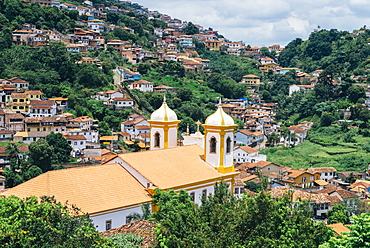 Ouro Preto, a former colonial mining town, UNESCO World Heritage Site, Minas Gerais, Brazil, South America