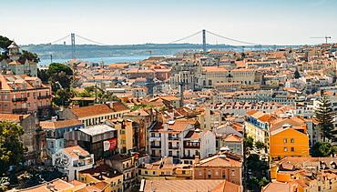 Panoramic viewpoint Sophia de Mello Breyner Andresen (Miradouro da Graca), Lisbon, Portugal, Europe - 1243-326