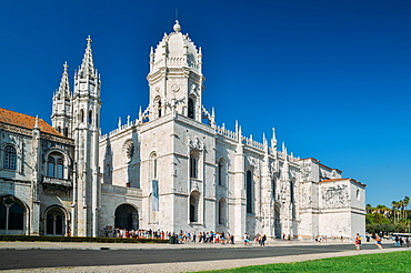The Jeronimos Monastery (Hieronymites Monastery) a former monastery in Belem, UNESCO World Heritage Site, Belem, Lisbon Portugal, Europe - 1243-331