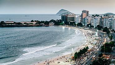 Copacabana Beach in Rio de Janeiro, UNESCO World Heritage Site, Brazil, South America - 1243-359