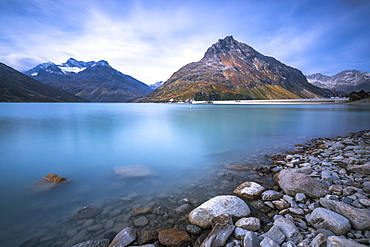 Lake Silvretta Stausee on the pass Bieler Hohe, Austrian Alps, Austria, Europe - 1244-2