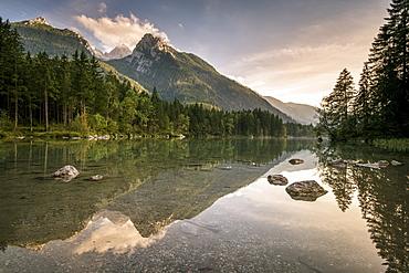 Lake Hintersee, Berchtesgadener Alpen, Bavaria, Germany, Europe - 1244-4