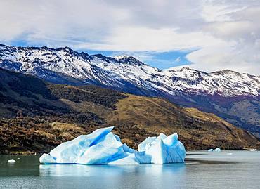 Iceberg on Lake Argentino, Los Glaciares National Park, UNESCO World Heritage Site, Santa Cruz Province, Patagonia, Argentina, South America