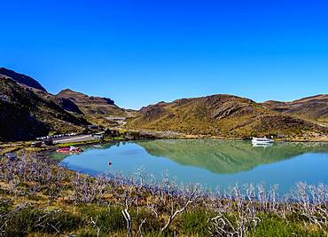 Lake Pehoe, Pudeto, Torres del Paine National Park, Patagonia, Chile, South America