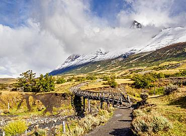 Trail to Refugio Chileno, Torres del Paine National Park, Patagonia, Chile, South America