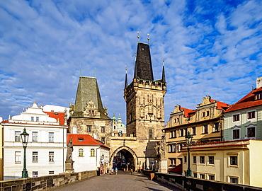 Lesser Town Bridge Tower, Charles Bridge, Mala Strana, Prague, UNESCO World Heritage Site, Bohemia Region, Czech Republic, Europe