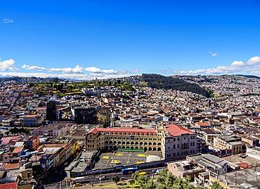 Cityscape of Quito, Pichincha Province, Ecuador, South America