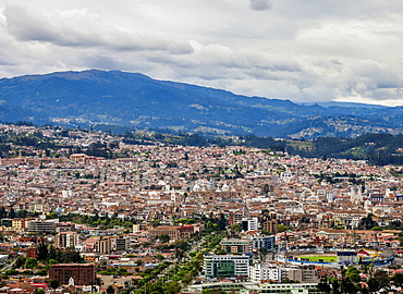 Cuenca Cityscape from Turi View Point, Azuay Province, Ecuador, South America