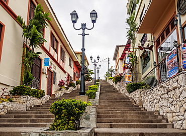 Stairway up the Santa Ana Hill, Las Penas Neighbourhood, Guayaquil, Guayas Province, Ecuador, South America