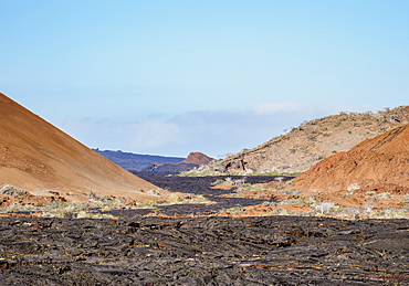Lava field in Sullivan Bay, Santiago (James) Island, Galapagos, UNESCO World Heritage Site, Ecuador, South America