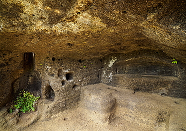 Cave at Asilo de la Paz, Highlands of Floreana (Charles) Island, Galapagos, UNESCO World Heritage Site, Ecuador, South America