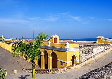 The Vaults, Old Town Walls, Plaza de las Bovedas, Cartagena, Bolivar Department, Colombia, South America