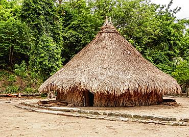 Kogi Hut, Pueblito Chairama, Tayrona National Natural Park, Magdalena Department, Caribbean, Colombia, South America