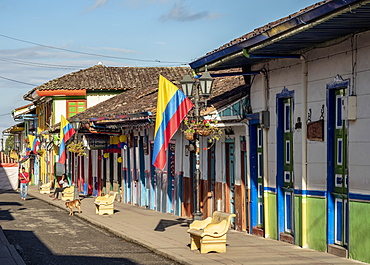 Street of Salento, Quindio Department, Colombia, South America