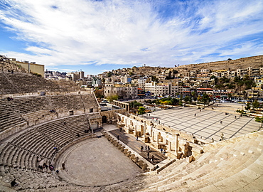 Roman Theatre, Amman, Amman Governorate, Jordan, Middle East