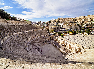 Roman Theatre, Amman, Amman Governorate, Jordan, Middle East