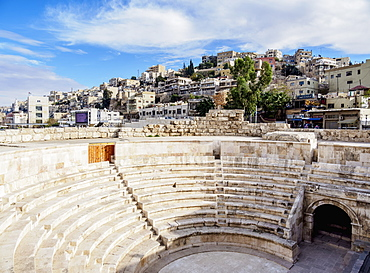 Roman Odeon Theatre, Amman, Amman Governorate, Jordan, Middle East