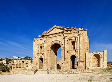 Hadrian's Arch, Jerash, Jerash Governorate, Jordan, Middle East