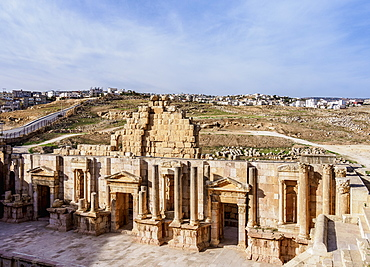 South Theatre, Jerash, Jerash Governorate, Jordan, Middle East