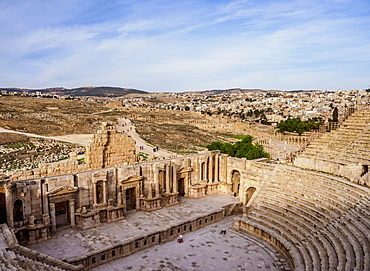 South Theatre, Jerash, Jerash Governorate, Jordan, Middle East