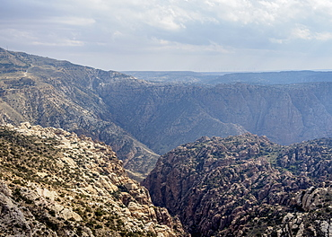 Dana Biosphere Reserve, elevated view, Tafilah Governorate, Jordan, Middle East