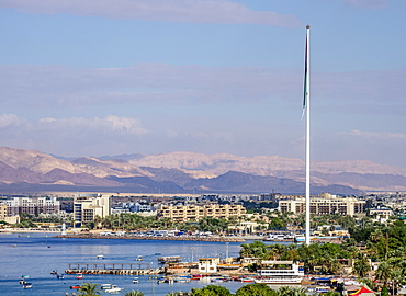Aqaba, elevated view, Aqaba Governorate, Jordan, Middle East