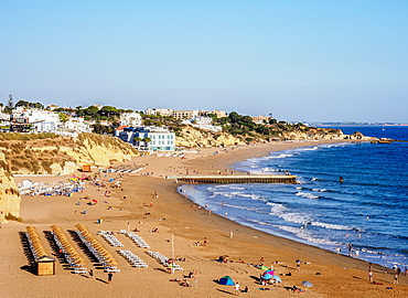 Paneco Beach, elevated view, Albufeira, Algarve, Portugal, Europe